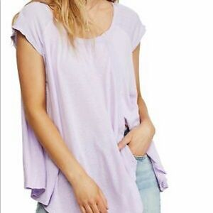 FREE PEOPLE keep it casual Lavender Blouse